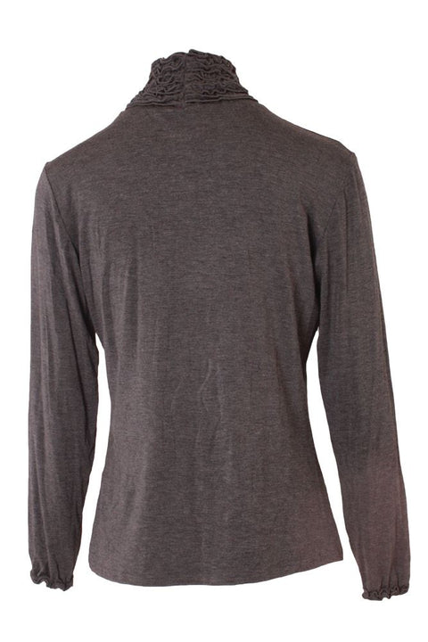 Yasmine Ruched Frill Roll Neck Top - Love My Fashions - Womens Fashions UK