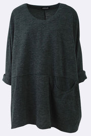Ashly Plain Oversized Pocket Top - Love My Fashions - Womens Fashions UK