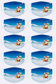 Merry Xmas Santa North Pole Print Xmas Face Mask Cover