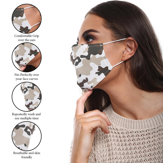 CAMOUFLAGE PRINT FACE MASKS