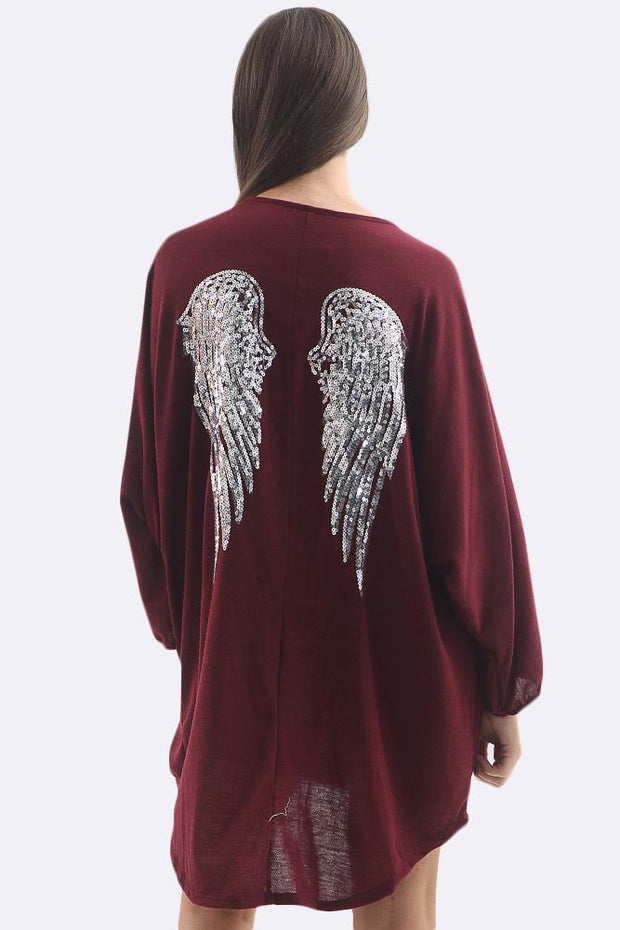 Candice Sequin Angel Wings Oversize Baggy Top - Love My Fashions - Womens Fashions UK