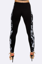 Elise Tie Dye Side Panel Print Legging - Love My Fashions - Womens Fashions UK