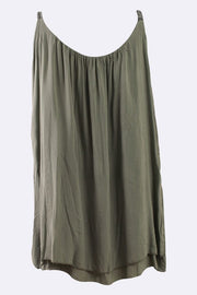 Italian Plain Metallic Straps Layered Top