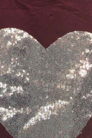 Sequin Heart Pattern Top
