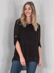 Farah Womens Italian Rolled Sleeve Bow Top - Love My Fashions - Womens Fashions UK