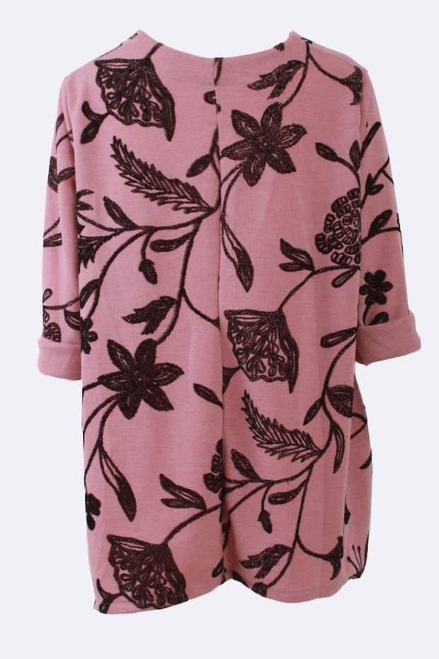 Alejandra Flower Print Oversized Tunic Top - Love My Fashions - Womens Fashions UK