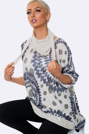 Scarf Top In African Print