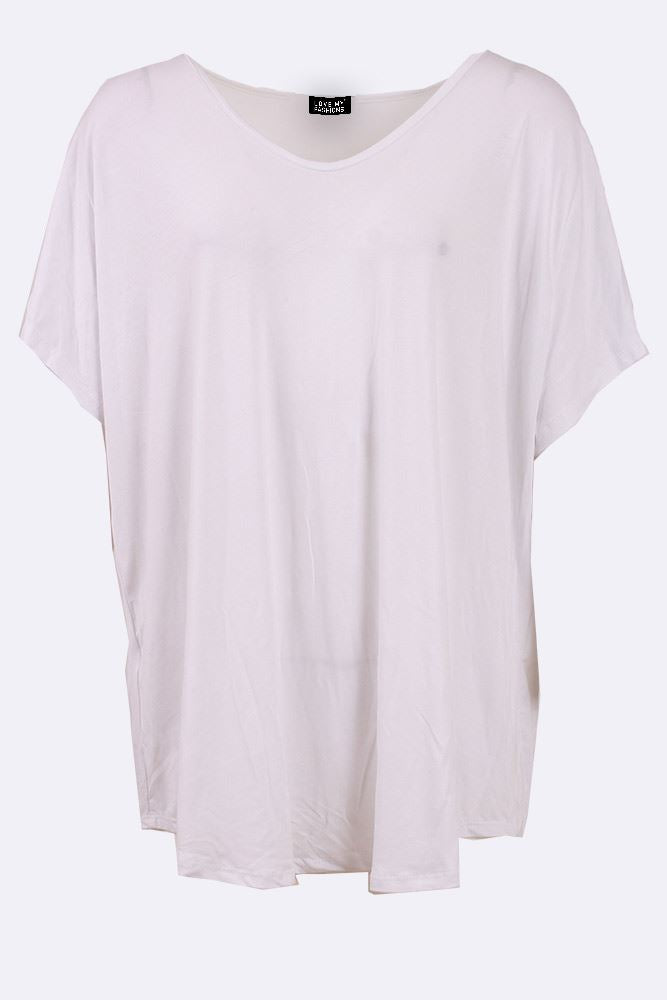 Layla-mae Plain Round Hem Short Sleeve Top - Love My Fashions - Womens Fashions UK