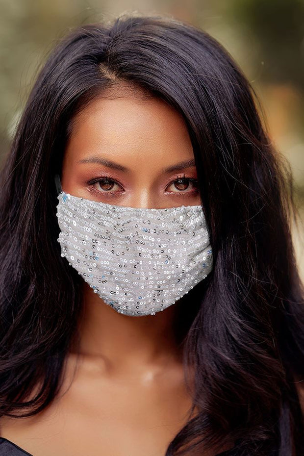 Sequin Pattern Fashion Face Mask_grwo