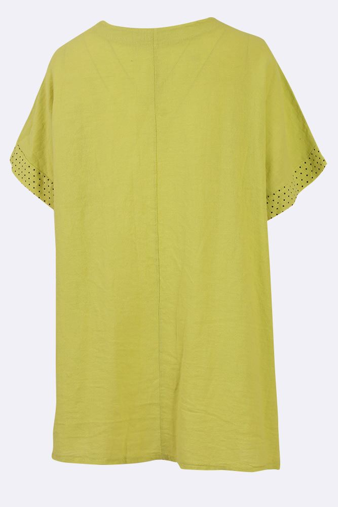Jannah Linen Dotted Applique Star Top - Love My Fashions - Womens Fashions UK