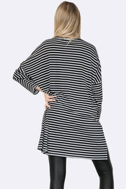 Italian Panelled Stripe Tunic Top