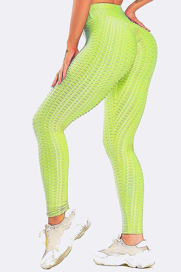 Honeycomb High Waist Textured Leggings