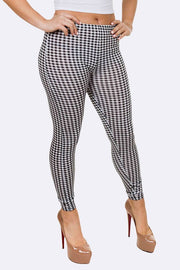 Natalia Gingham Check Print Legging - Love My Fashions - Womens Fashions UK