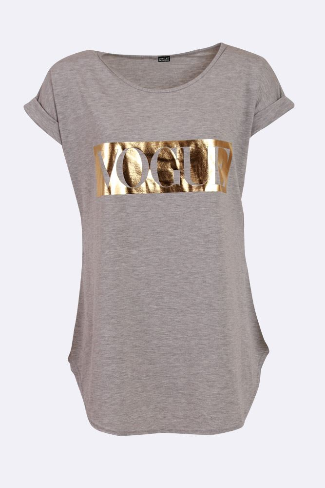 Abigayle Plain Vogue Slogan T-shirt