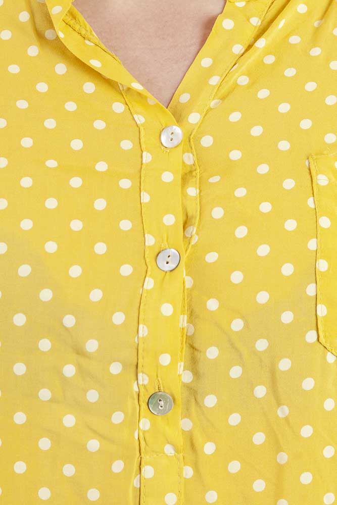 Dania Viscose Polka Dot Print Button Detail Top - Love My Fashions - Womens Fashions UK