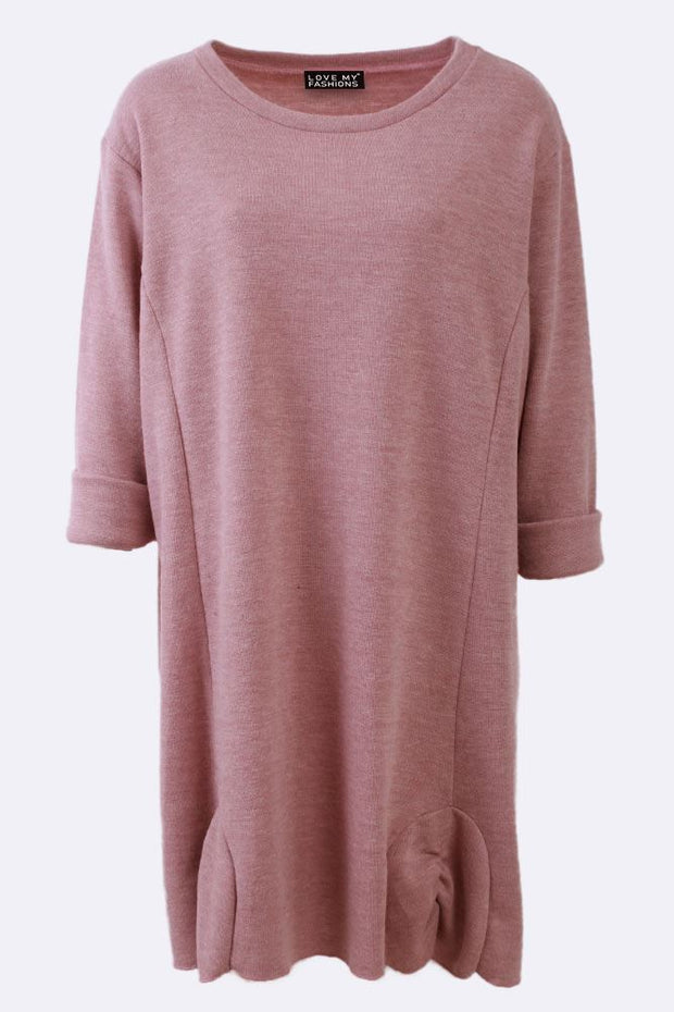 Kezia Plain Slub Long Sleeve Top
