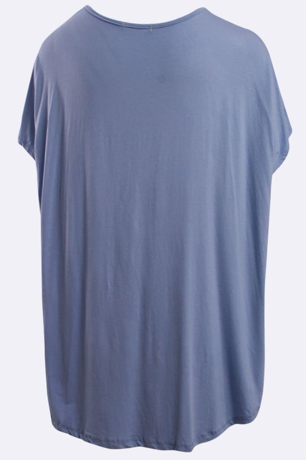 Maddie Italian Plain Short Sleeve Casual Top - Love My Fashions - Womens Fashions UK