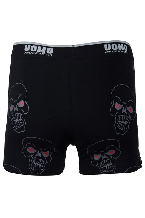 Dylan Mens Skull Red Eye Face Print Boxer Shorts - Love My Fashions - Womens Fashions UK