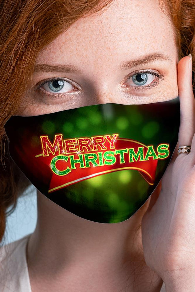 Merry Christmas Print Xmas Face Mask Cover