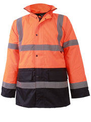 Mens Hi-viz Waterproof Padded Jacket_grwo