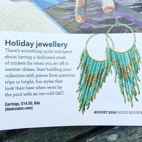 Good Housekeeping UK Breeze Earrings by Ilda London