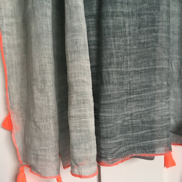 Ombré Sarong/Scarf in Grey - Ilda London jewelry and accessories