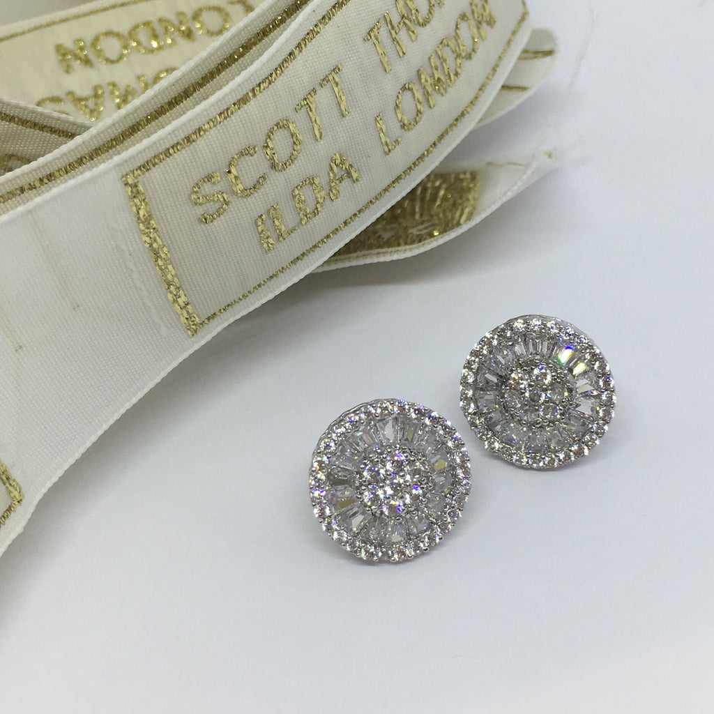 Glamour Cubic Zirconia Stud Earrings - Ilda London jewelry and accessories
