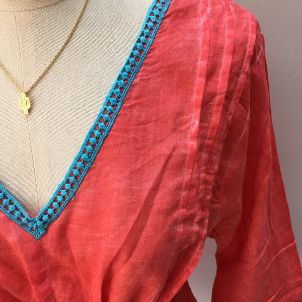 Kaftan in Poppy Red Cotton - Ilda London jewelry and accessories