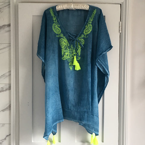 Faded Blue Kaftan