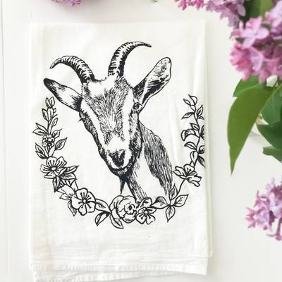 Kitchen Towel - Farm Goat