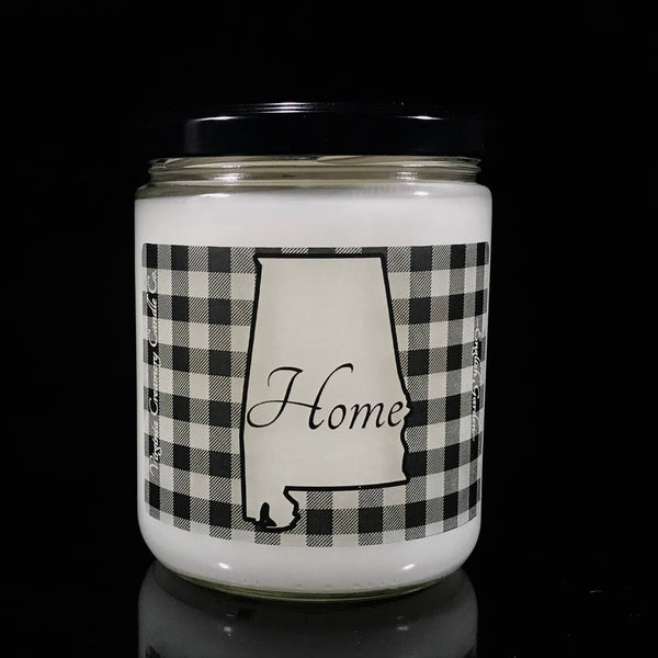 Virginia Creamery Candle Co. - USAL- Alabama Home Buff CK 16oz Jar