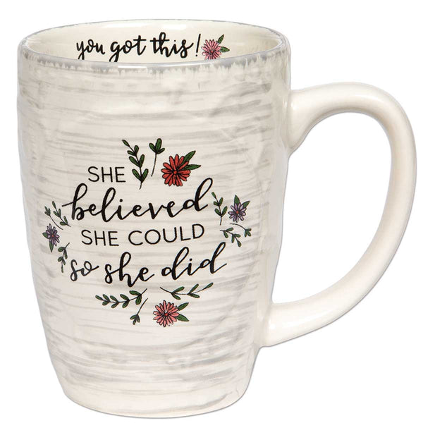 Inspirational Mug - She Believed She Could So She Did