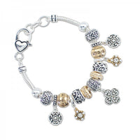 Gold & Silver Story Bead Bracelet - FREE SHIPPING