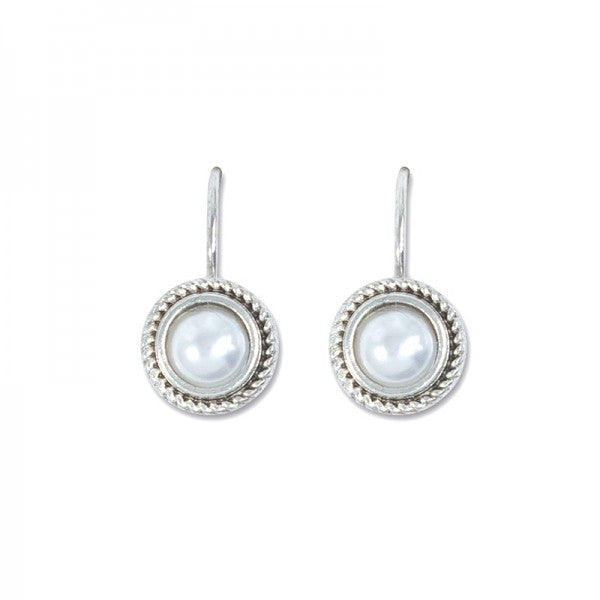 Earrings - Silver Pearl Drops - Free Shipping