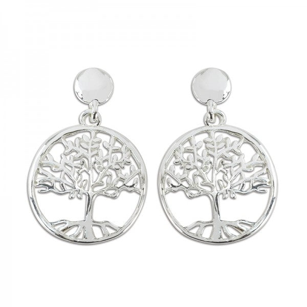 Silver Tree of Life Earrings - FREE SHIPPING