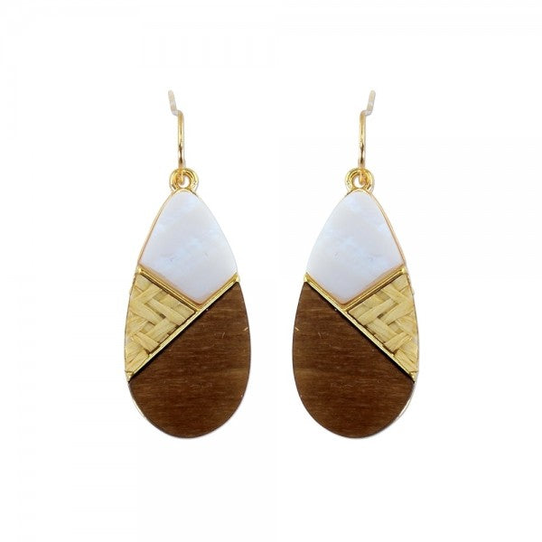 Wood & Shell Earrings