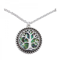 Abalone Tree of Life Necklace
