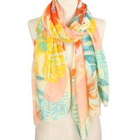 Tropical Print Scarf - FREE SHIPPING