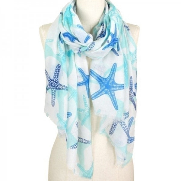 Starfish Multi Color Scarf - FREE SHIPPING