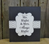 Mr. Right & Mrs. Always Right Recipe Binder
