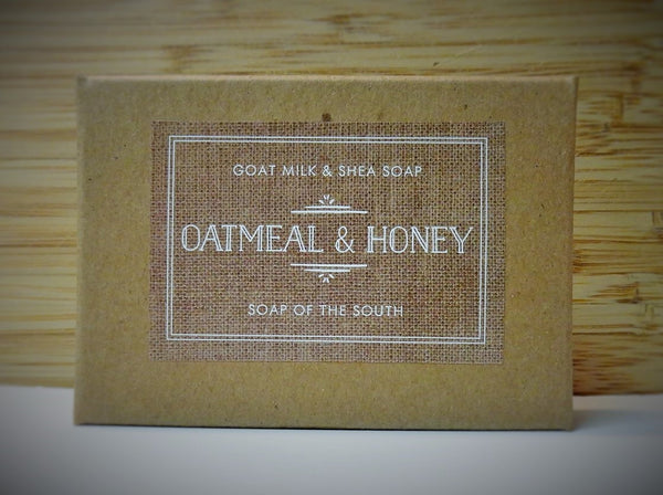 Soap of the South Goat Milk Soap - Oatmeal & Honey - FREE SHIPPING
