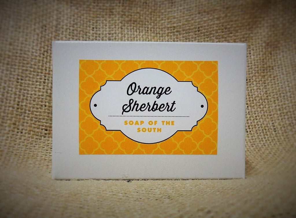 Soap of the South Shea Butter Soap - Orange Sherbert