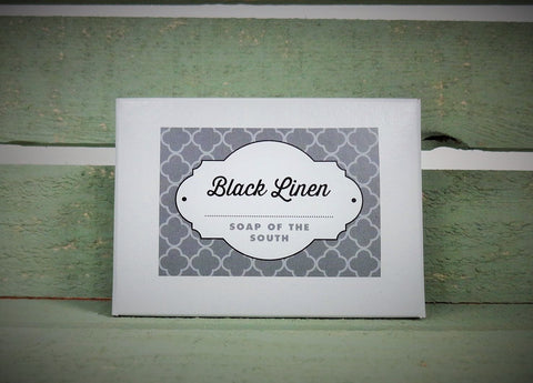 Black Linen Soap Bar
