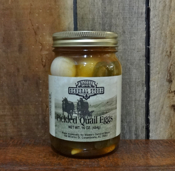 Masters General Store Spicy Pickled Quail Eggs - 16 oz