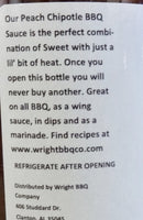 Wright Peach Chipotle BBQ Sauce