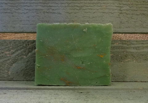 Cold Process Green Clover Soap Bar