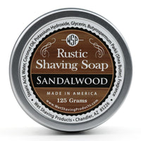WSP - Rustic Shaving Soap - Sandalwood - FREE SHIPPING