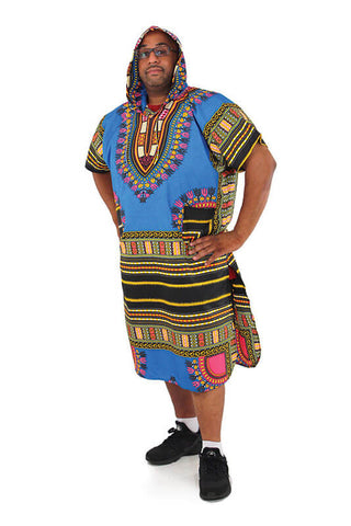 Extra-Long Dashiki Hoodie - Motherlands Finest