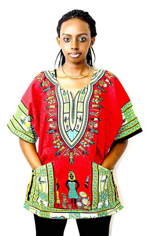 Female Dashiki Shirt - Motherlands Finest - 1