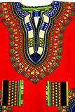 Red Unisex Dashiki Shirt - Motherlands Finest - 3